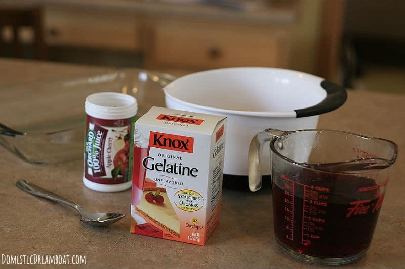 Juice jello ingredients