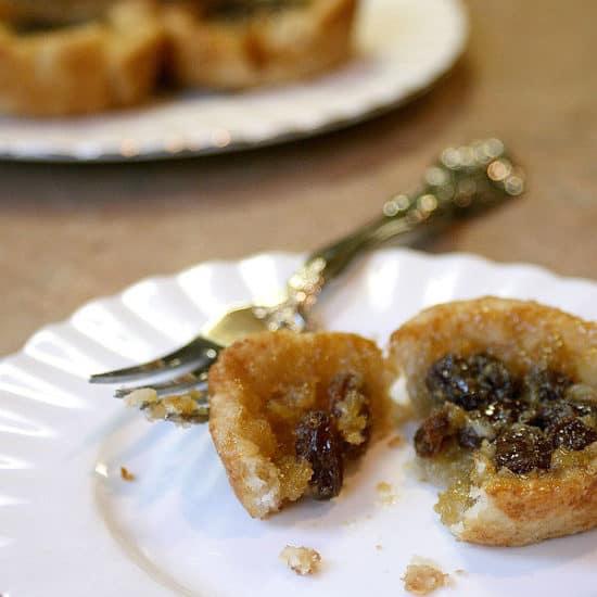 Butter tart on a plate