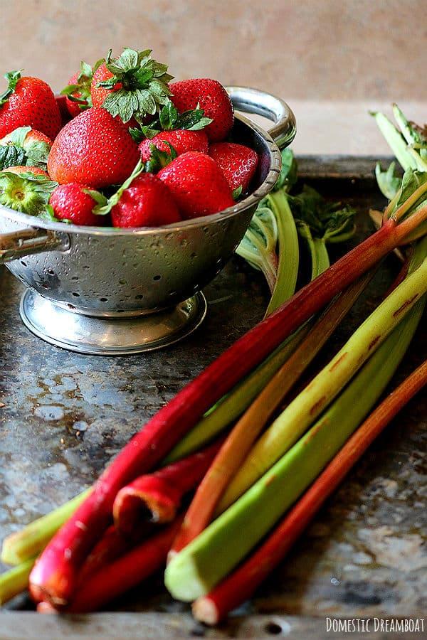 Fresh Strawberries and rhubarb