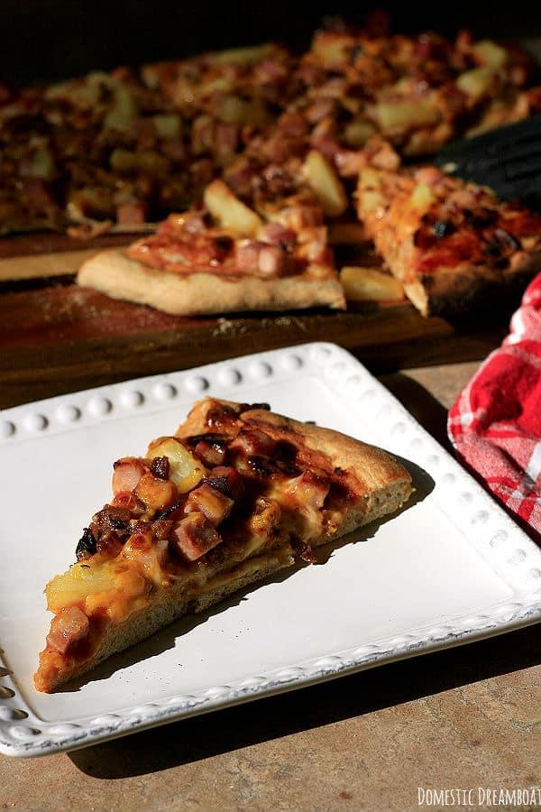Smoky Hawaiian Pizza Slice