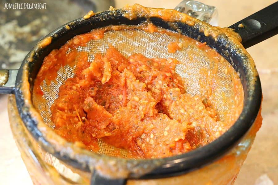 Tomato soup pulp
