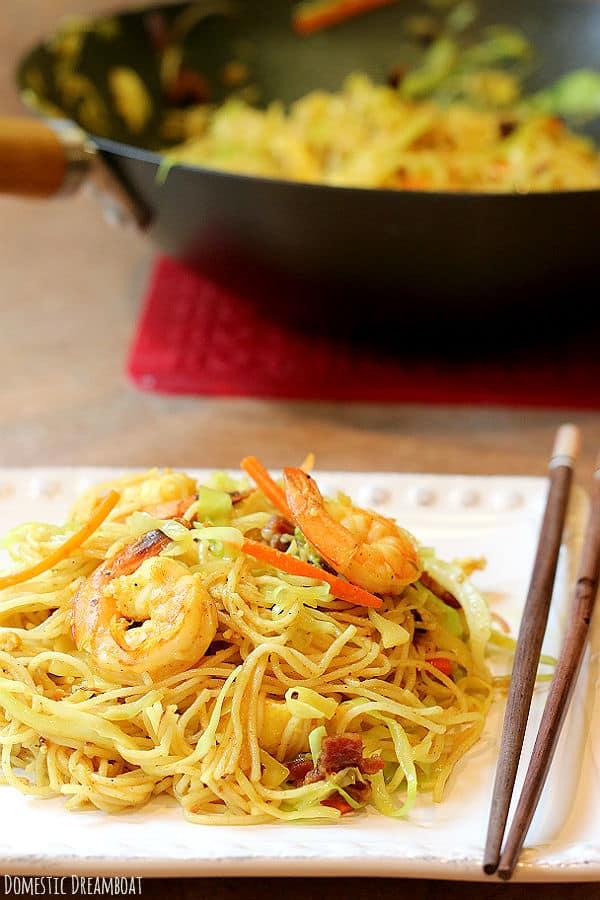 Spicy Stir-Fried Singapore Noodles