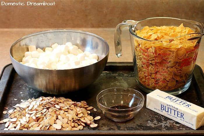 Ingredients to make cornflake squares