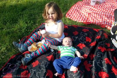 Siblings enjoying concert