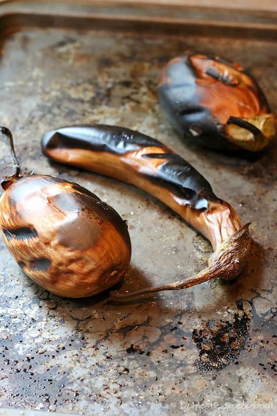 Baba Ghanouj - Middle Eastern Roasted Eggplant Dip
