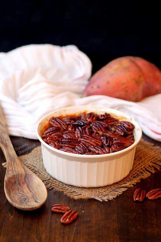Sweet Potato Casserole - Domestic Dreamboat #glutenfree #Thanksgiving
