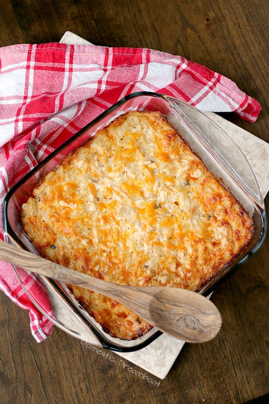 Cheesy Hashbrown Casserole - Great as a side dish or breakfast