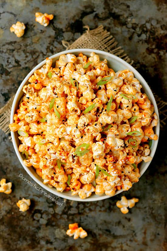 Spicy Gochujang Butter Popcorn - Domestic Dreamboat