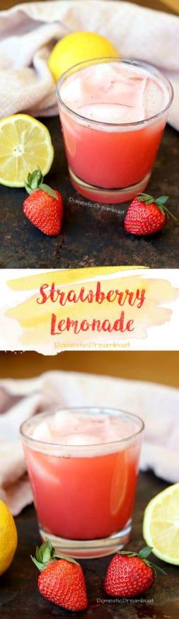 Strawberry Lemonade - Lightly sweetened and perfectly refreshing