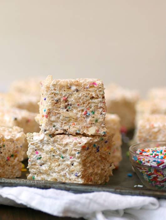Homemade Marshmallow Rice Krispie Squares