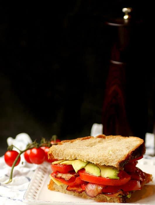 Bacon, Avocado, and Tomato Sandwich