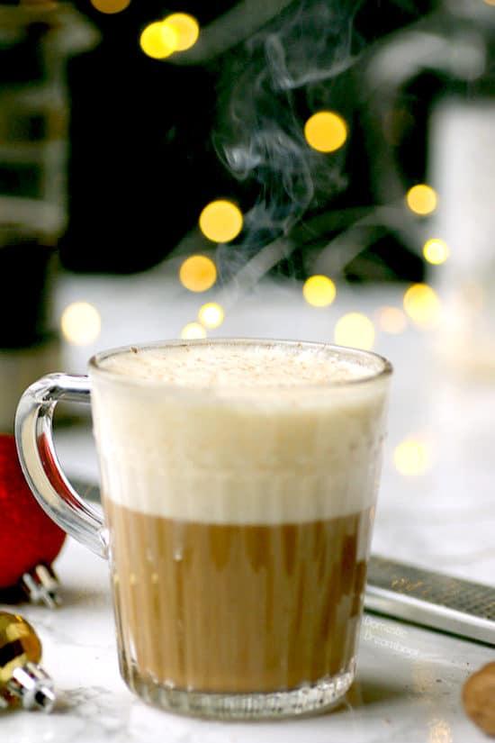 Eggnog Latte - Domestic Dreamboat #glutenfree #coffee