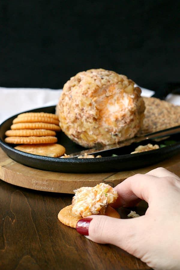 Homemade Cheeseball - Domestic Dreamboat #glutenfree #snack #cheese