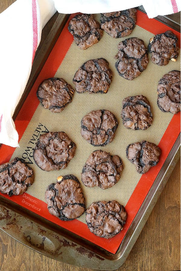Flourless Triple Chocolate Cookies - Domestic Dreamboat #glutenfree #chocolate #cookies
