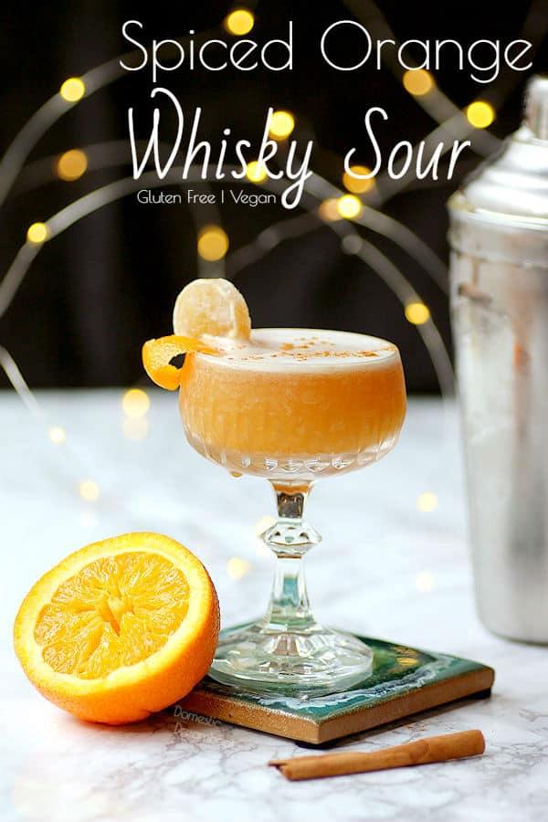 Spiced Orange Whisky Sour
