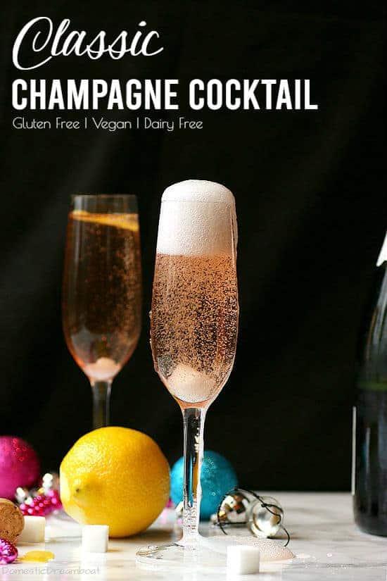 Classic Champagne Cocktail Vegan Gf Domestic Dreamboat